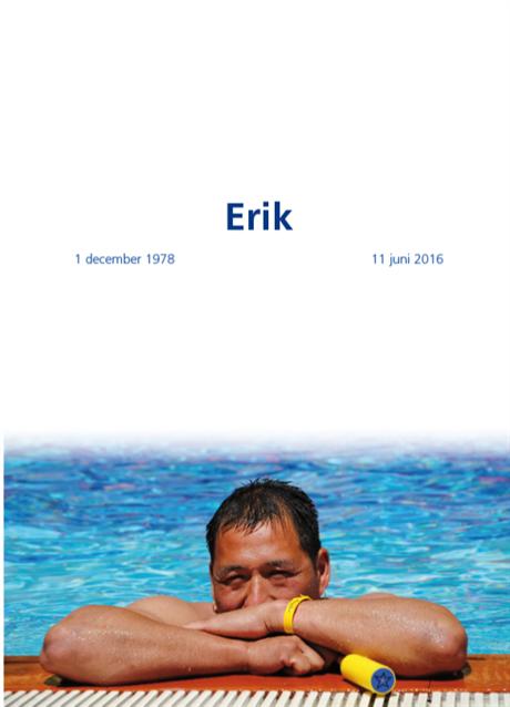 In herinnering ~ Erik Duyvestein