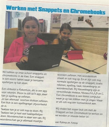 Digitale middelen op Montessorischool Naaldwijk
